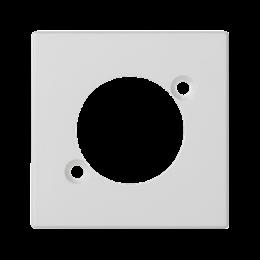 Płytka K45 pusta do złącza XLR 45×45mm czysta biel-256520
