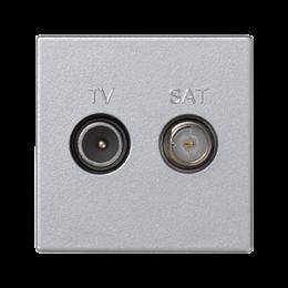 Gniazdo antenowe K45 TV-SAT częstotliowść:5MHz÷2400MHz 45×45mm aluminium-256470