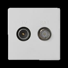 Gniazdo antenowe K45 TV-SAT częstotliowść:5MHz÷2400MHz 45×45mm czysta biel-256471