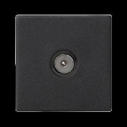 Płytka K45 gniazdo TV męskie 45×45mm szary grafit-256488