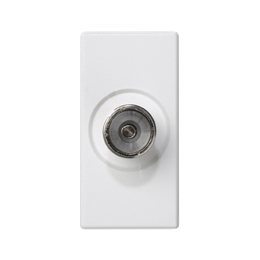 Płytka K45 gniazdo TV żeńskie 45×22,5mm czysta biel-256481