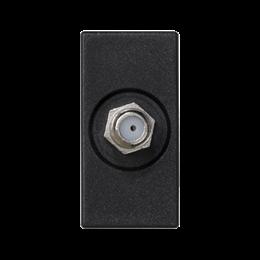 Płytka K45 gniazdo SAT (F) żeńskie 45×22,5mm szary grafit-256485