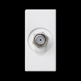 Płytka K45 gniazdo SAT (F) żeńskie 45×22,5mm czysta biel-256484