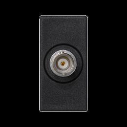 Płytka K45 złącze BNC 45×22,5mm szary grafit-256509