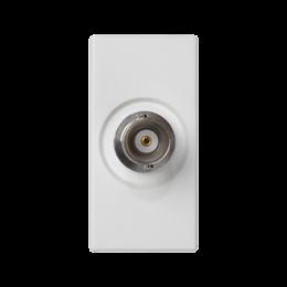 Płytka K45 złącze BNC 45×22,5mm czysta biel-256508