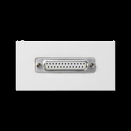 Płytka K45 złącze LPT (D-SUB 25) 90×45mm czysta biel-256511