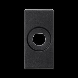 Płytka K45 pusta z otworem O10mm 45×22,5mm szary grafit-256528
