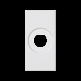 Płytka K45 pusta z otworem O10mm 45×22,5mm czysta biel-256527