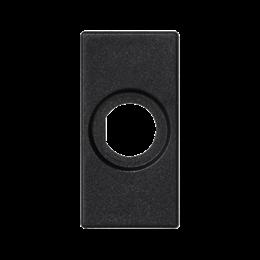 Płytka K45 pusta z otworem O14mm 45×22,5mm szary grafit-256530