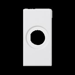 Płytka K45 pusta z otworem O14mm 45×22,5mm czysta biel-256529