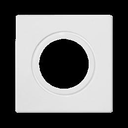 Plakietka przyłączeniowa K45 rurka O22 lub dławica O29 45×45mm czysta biel-256590