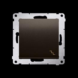 Łącznik schodowy (moduł) 10AX 250V, szybkozłącza, brąz mat, metalizowany-252059