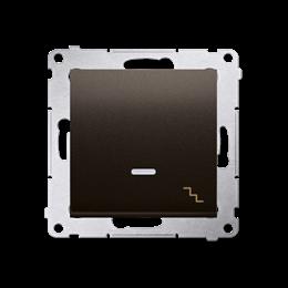 Łącznik schodowy z podświetleniem LED (moduł) 10AX 250V, szybkozłącza, brąz mat, metalizowany-252077