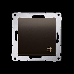 Łącznik krzyżowy (moduł) 10AX 250V, szybkozłącza, brąz mat, metalizowany-252096
