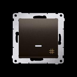 Łącznik krzyżowy z podświetleniem LED (moduł) 10AX 250V, szybkozłącza, brąz mat, metalizowany-252123