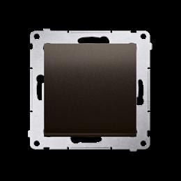 Przycisk pojedynczy zwierny bez piktogramu (moduł) 10AX 250V, szybkozłącza, brąz mat, metalizowany-252146