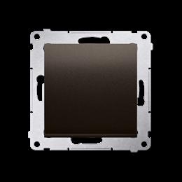Przycisk pojedynczy rozwierny bez piktogramu bez piktogramu (moduł) 10AX 250V, szybkozłącza, brąz mat, metalizowany-252189