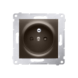 Gniazdo wtyczkowe pojedyncze z uziemieniem z przesłonami torów prądowych do ramek Nature do ramek Premium (moduł) 16A 250V, zaci