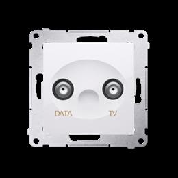 Gniazdo antenowe TV-DATA tłum.:5dB biały-252957