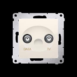 Gniazdo antenowe TV-DATA tłum.:5dB kremowy-252958
