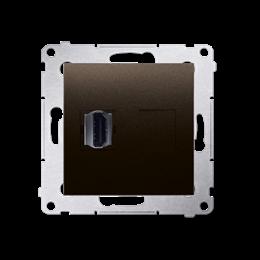 Gniazdo HDMI pojedyncze brąz mat, metalizowany-253025