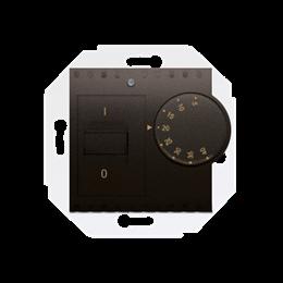 Regulator temperatury z czujnikiem wewnętrznym brąz mat, metalizowany-252770