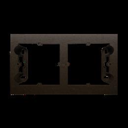 Puszka natynkowa 2-krotna brąz mat, metalizowany-251697