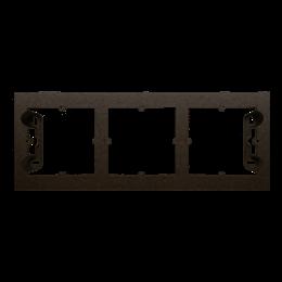 Puszka natynkowa 3-krotna brąz mat, metalizowany-251703