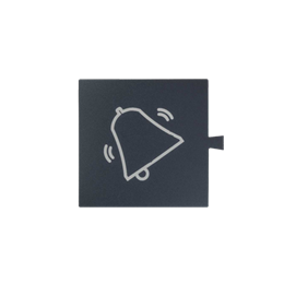 Filtr do klawisza świecącego tło grafit - piktogram dzwonek biały-251068
