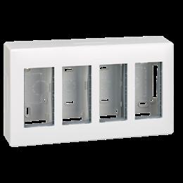 Obudowa natynkowa SIMON 500 4×S500 8×K45 czysta biel-255792