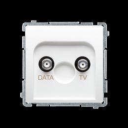 Gniazdo antenowe TV-DATA tłum.:5dB biały-253976