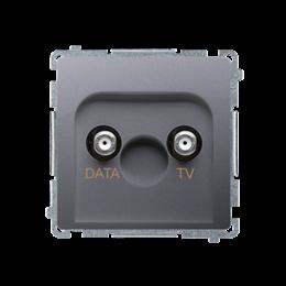 Gniazdo antenowe TV-DATA tłum.:5dB inox, metalizowany-253978