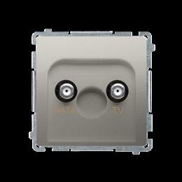 Gniazdo antenowe TV-DATA tłum.:5dB satynowy, metalizowany-253979
