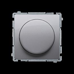 Ściemniacz do LED ściemnialnych, naciskowo-obrotowy, jednobiegunowy srebrny mat, metalizowany W układzie schodowym:Tak-254231
