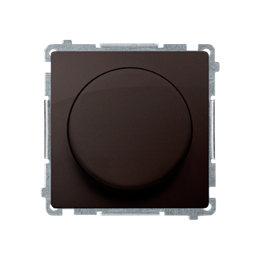 Ściemniacz do LED ściemnialnych, naciskowo-obrotowy, jednobiegunowy czekoladowy mat, metalizowany W układzie schodowym:Tak-25423