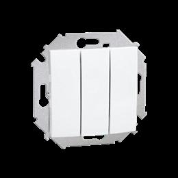 Łącznik trójobwodowy (moduł) 10AX 250V, zaciski śrubowe, biały-254569