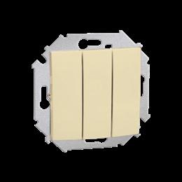 Łącznik trójobwodowy (moduł) 10AX 250V, zaciski śrubowe, beżowy-254570
