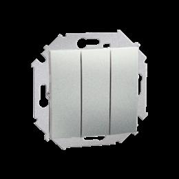 Łącznik trójobwodowy (moduł) 10AX 250V, zaciski śrubowe, aluminiowy, metalizowany-254571