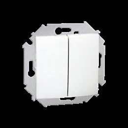 Łącznik schodowy podwójny (moduł) 16AX 250V, zaciski śrubowe, biały-254578