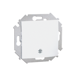 Łącznik krzyżowy (moduł) 16AX 250V, zaciski śrubowe, biały-254581