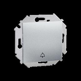 """Przycisk """"dzwonek"""" (moduł) 16AX 250V, zaciski śrubowe, aluminiowy, metalizowany-254565"""