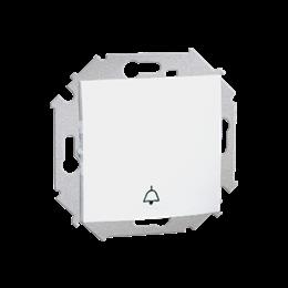 """Przycisk """"dzwonek"""" (moduł) 16AX 250V, zaciski śrubowe, biały-254566"""