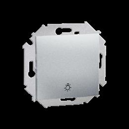 """Przycisk """"światło"""" (moduł) 16AX 250V, zaciski śrubowe, aluminiowy, metalizowany-254590"""