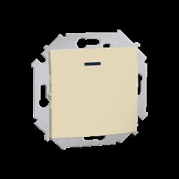 Przycisk pojedynczy zwierny z podświetleniem LED nie wymienialny kolor: czerwony (moduł) 16AX 250V, zaciski śrubowe, beżowy-2545
