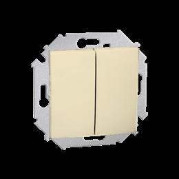 Przycisk podwójny zwierny. Dwuobwodowy: 2 wejścia, 2 wyjścia. (moduł) 16AX 250V, zaciski śrubowe, beżowy-254601
