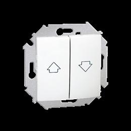 Przycisk żaluzjowy pojedynczy (moduł) 10A 250V, zaciski śrubowe, biały-254603