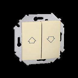 Przycisk żaluzjowy pojedynczy (moduł) 10A 250V, zaciski śrubowe, beżowy-254604