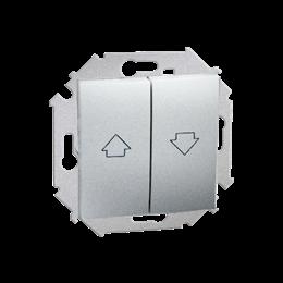 Łącznik żaluzjowy pojedynczy (moduł) 10A 250V, zaciski śrubowe, aluminiowy, metalizowany-254606