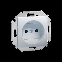 Gniazdo wtyczkowe pojedyncze bez uziemienia aluminiowy, metalizowany 16A-254648