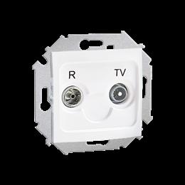 Gniazdo antenowe R-TV końcowe separowane tłum.:1dB biały-254688